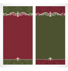 tall Christmas frames vector image