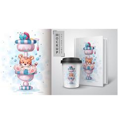 Tiger toilet - poster and merchandising vector