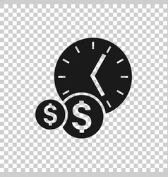 Time is money icon in flat style project vector