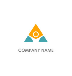 Triangle abstract winner logo vector