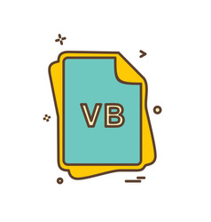 vb file type icon design vector image