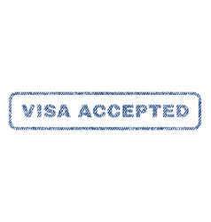 Visa accepted textile stamp vector