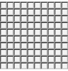 Wafer geometric seamless pattern 3d vector