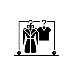 wardrobe black icon sign on isolated vector image
