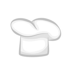 white chef cook hat realistic stylish 3d design vector image