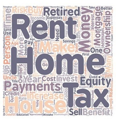 Why Own a Home Instead of Rent text background vector image