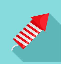 xmas festive rocket icon flat style vector image