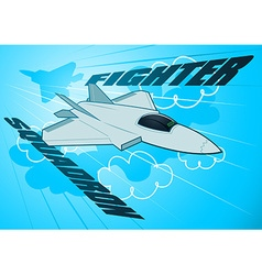 Air force jet fighter squadron in the sky vector
