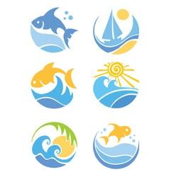 fish and sea vector image vector image