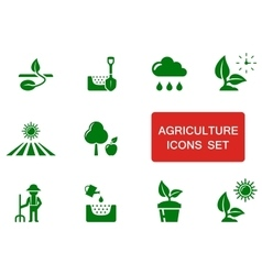 green agriculture icon vector image vector image