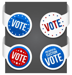 Left and right side signs - Vote vector image