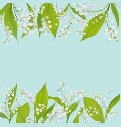 spring and summer floral frame holidays decoration vector image