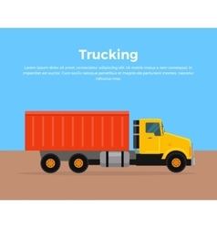 Trucking Banner Flat Design vector image