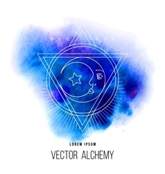 Geometric alchemy symbol vector