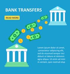 online transfers between banks flat design vector image