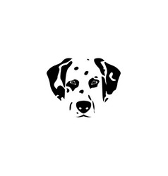 silhouette dalmatian dog vector image vector image