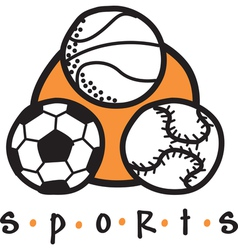 Sports gear logo vector image vector image