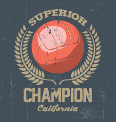 superior california champion poster vector image