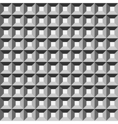 Wafer geometric seamless pattern 3D vector image vector image