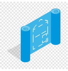 architectural project isometric icon vector image