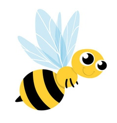 Bee Cute Cartoon vector image vector image