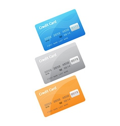Credit card icons isolated on white background vector image