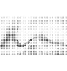 halftone abstract waves background vector image