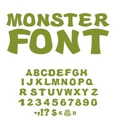 Monster font Green Swamp letters Horrible alphabet vector image vector image