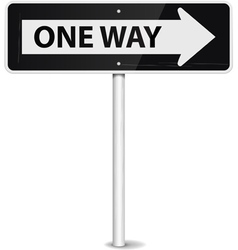 one way arrow vector image