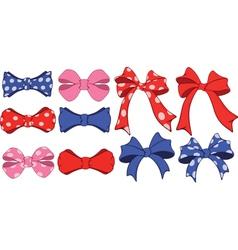 Set of bows cartoon vector image