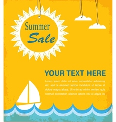Summer sale infographic vector