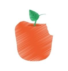 Apple bite fruit diet healthy food vector