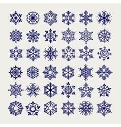 Ball pen imitation snowflakes set vector