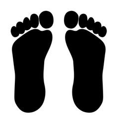 footprint from foot vector image