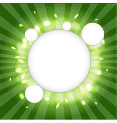 Green Web Cloud vector image vector image