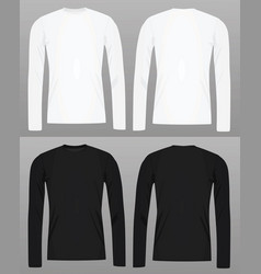 Long sleeve t shirt template vector
