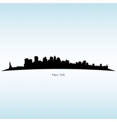 New York Silhouette Skyline vector image