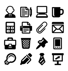 Office Icons Set on White Background vector image