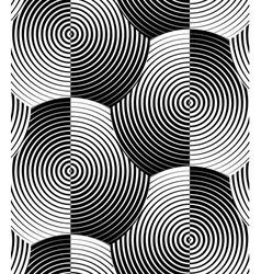 Striped Shells Black White Seamless Pattern vector image
