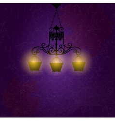 Vintage background with chandelier vector image vector image