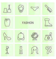 14 fashion icons vector