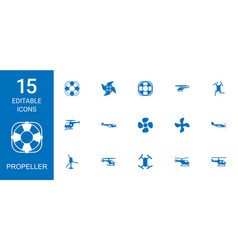 15 propeller icons vector