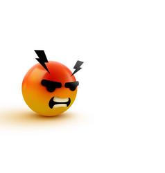 3d angry mad emoji sign emoticon icon design vector