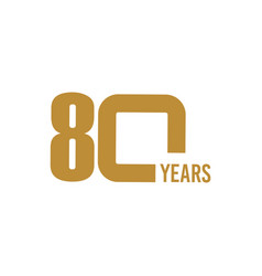80 year anniversary template design vector image