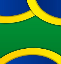 Abstract background in Brazil flag colors vector image