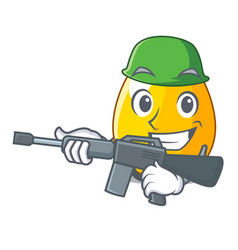 Army golden egg cartoon for greeting card vector