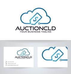 Auction Cloud vector image