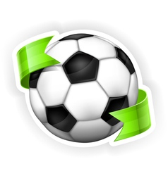 ball green ribbon 10 v vector image