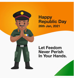 Banner design happy republic day vector
