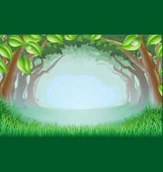 Beautiful woodland scene vector